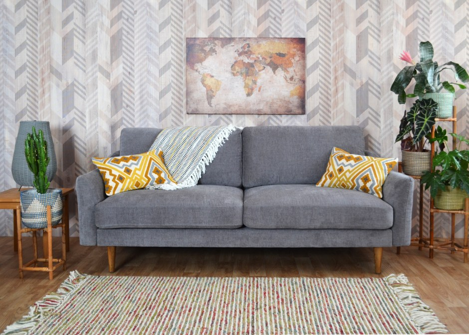 Snug Shack The UK's First Sofa In A Box | Midcentury style sofa delivered in a box within 3 days. Perfect for new home owners or renters and makes for super stylish seating to your living rooms.
