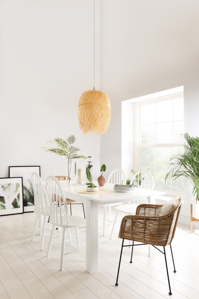 How To Choose The Perfect Dining Table | Mixing up different styles of chairs withh your table also allows you to experiment with different textures which can help create interest in neutral spaces.