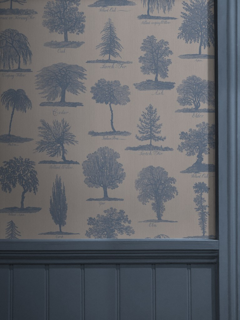 Divine Savages & Natural History Museum Collaboration - Arboreta wallpaper collection inspired by illustrations of trees dating back to 1786
