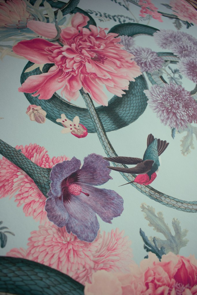 Divine Savages Natural History Museum collaboration - Wallpaper collection Forbidden Bloom floral and exotic inspired luxury wallpaper design