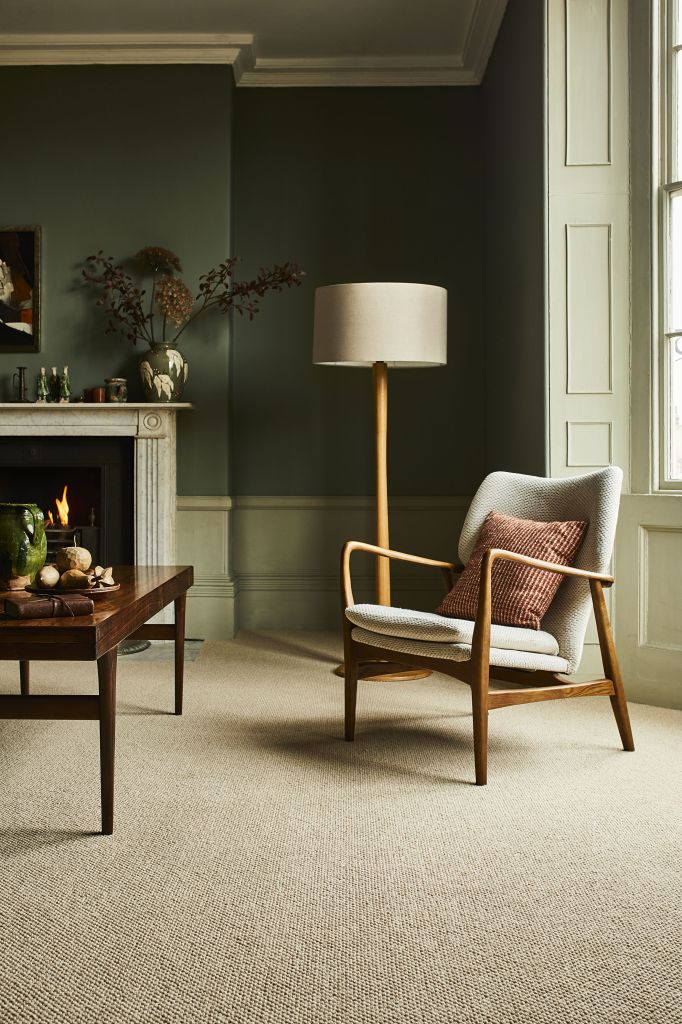 Why You Should Consider Carpet For Your Homes | Modern classic living room with wool carpet adds warmth and comfort underfoot.