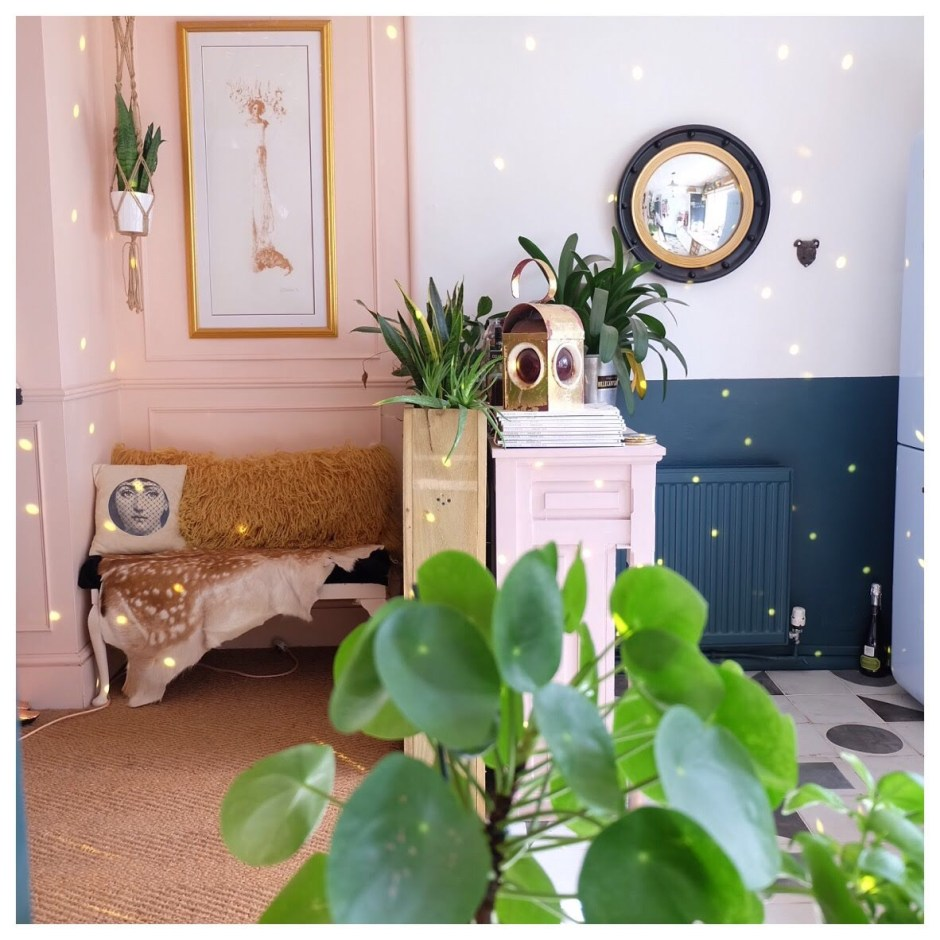 The Creative Eclectic Home of Gold Leaf Queen - Lara Bezzina | colour blocking
