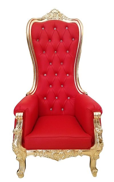 high chair on sale cheap parson chairs baroque throne queen back in red velvet