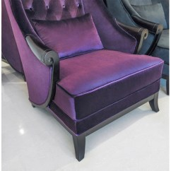 High Back Wing Chairs Movie Theater Chair - Duchess Purple