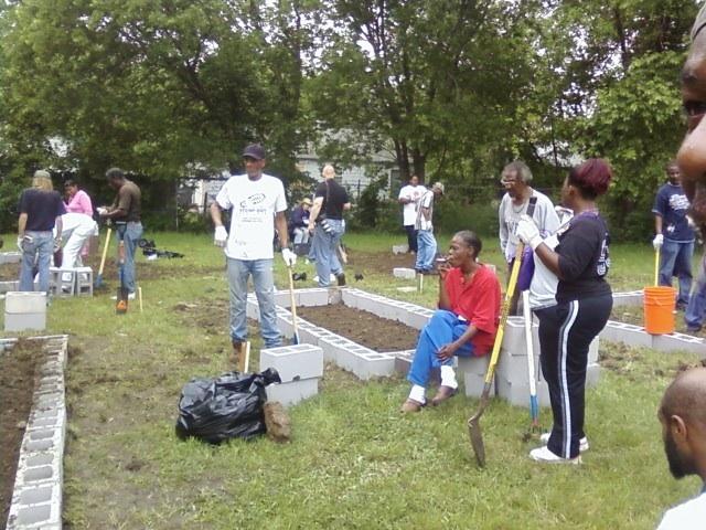 DISC & Stewpot Crews, Deborah in Center