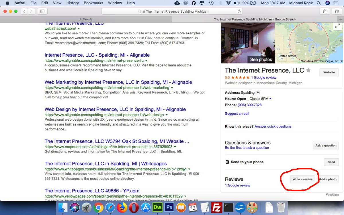The Internet Presence Google Review
