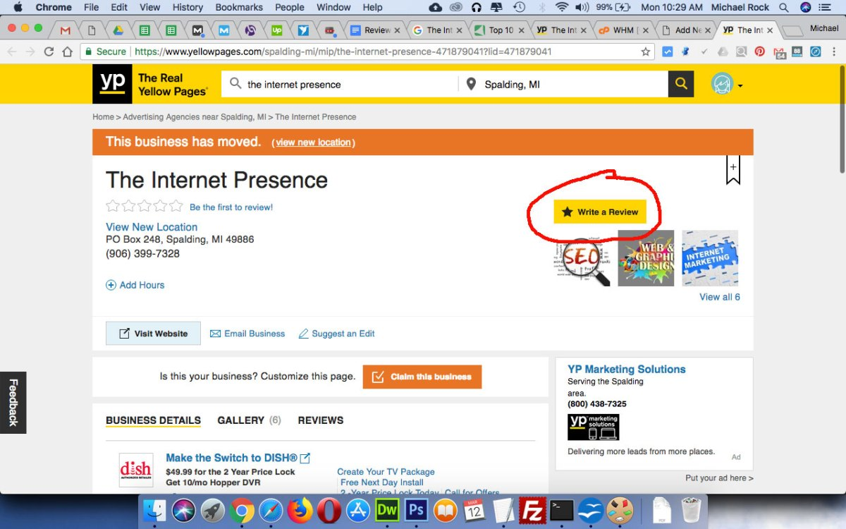 The Internet Presence review on Yellow Pages