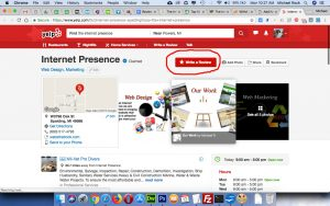 The Internet Presence review on yelp