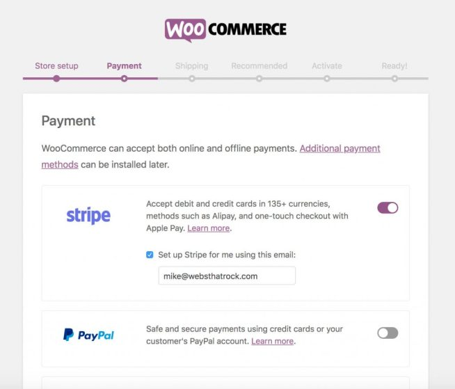 2019 WooCommerce Payment Options