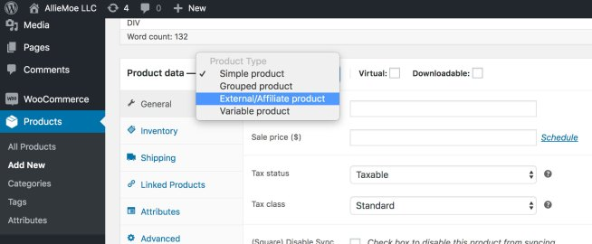 How to Add Affiliate Product to 2019 WooCommerce Step 1