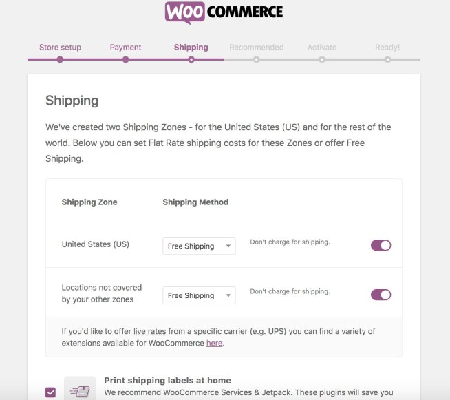 How to set up shipping for WooCommerce in 2019
