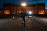 The Tribal Band performing in front of Hopetoun House