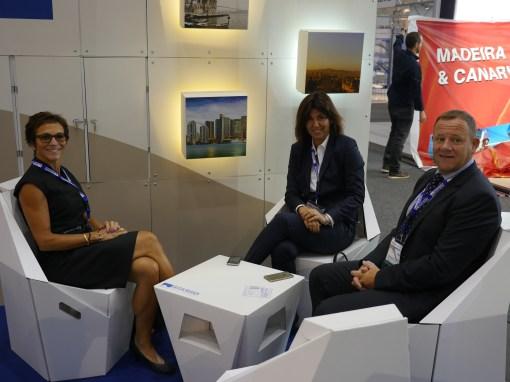 L-R Celeste Gladstone, Olga Piqueras and Mark Robinson