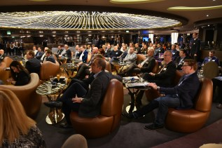 Over 120 cruise line executives were invited to the event