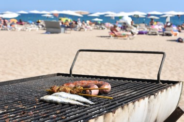 """""""Throw some shrimp on the barbie"""" - Nothing quite beats the smell of BBQ'd """"Surf & Turf"""" at the beach"""