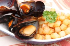 Moules Frites - A dish that is often enjoyed by locals as a snack