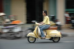Exploring the city on Vespa Tour