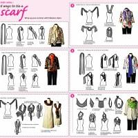 Creative ways to tie a scarf !