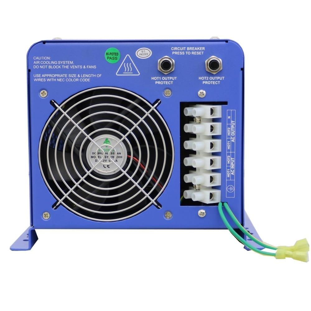 hight resolution of 6000 watt pure sine inverter charger 24 vdc to 120 240 vac wiring 240v ac split