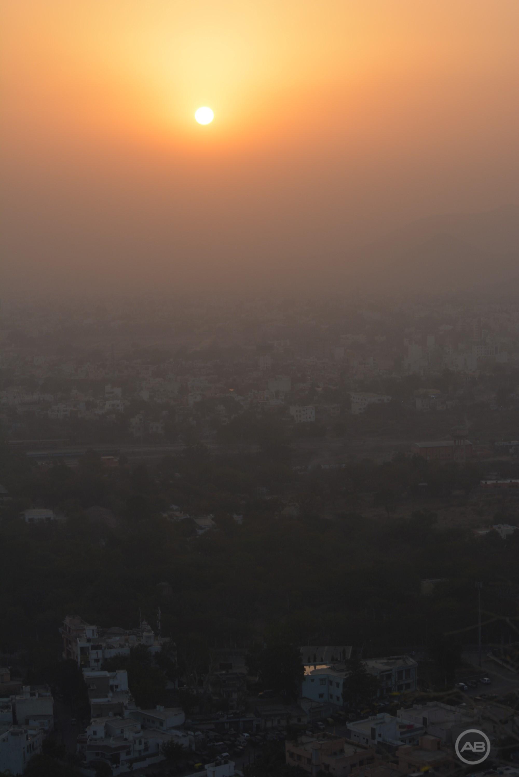 Sunrise at Karni Mata