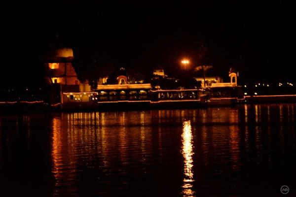Jag Mandir Lighting at Night