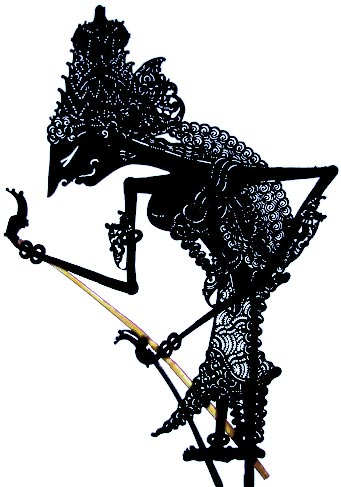 Wayang Kulit puppet from Java Indonesia