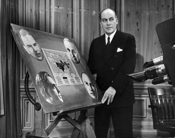 "Dr. George Gallup appearing on CBS-Television series called ""America Speaks."" - 1948"