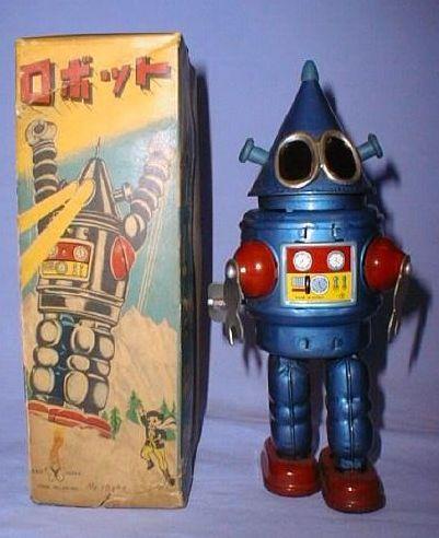 Conehead Robot - Yonezawa 1950's - 1960's