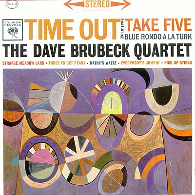 """""""Time Out"""" album cover with artwork by Neil Fujita (1959)"""