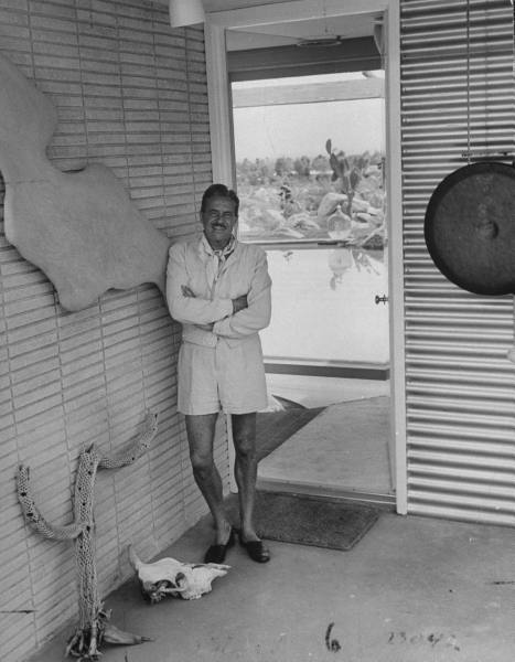 Raymond Loewy relaxing at home