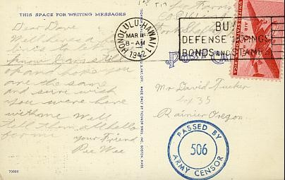 "I love the ""Buy War Bonds"" stamp!"