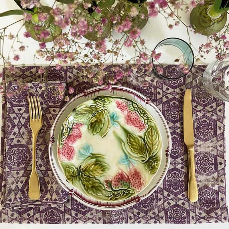 The Invisible Collection Etoiles Prune Napkin Jennifer Shorto