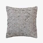 Diamond Small Weave Light Grey Cushion Cover