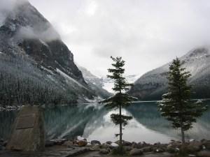 Lake Louise, Alberta, Canada, letting go
