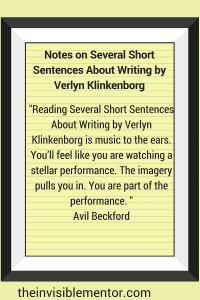 Several Short Sentences About Writing by Verlyn Klinkenborg