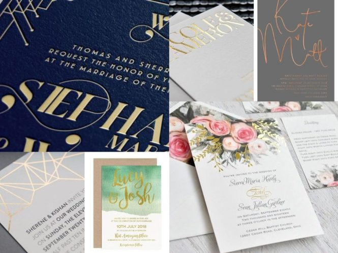 Be Your Own Kind Of Beautiful With Gold Foil Wedding