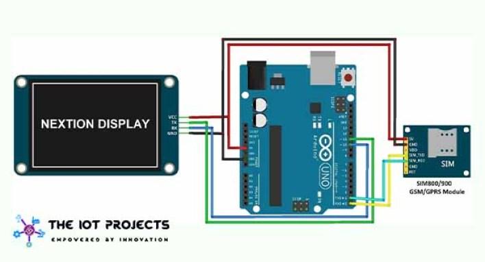 Circuit-Mobile-Phone-GSM-Arduino