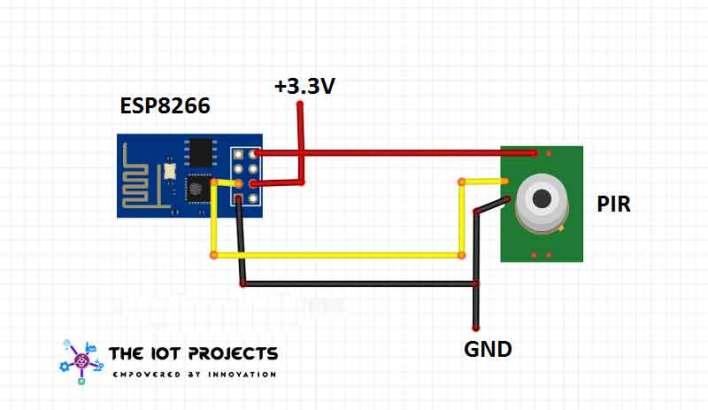 Interfacing PIR Sensor with ESP8266