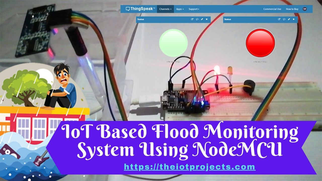 IoT Based Flood Monitoring System Using NodeMCU & ThingSpeak
