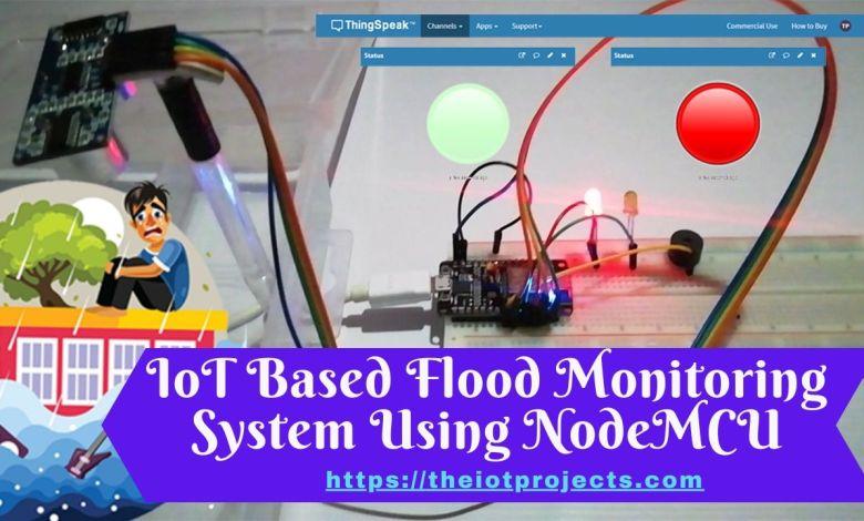 IoT Based Flood Monitoring System Using NodeMCU & ThingSpeak