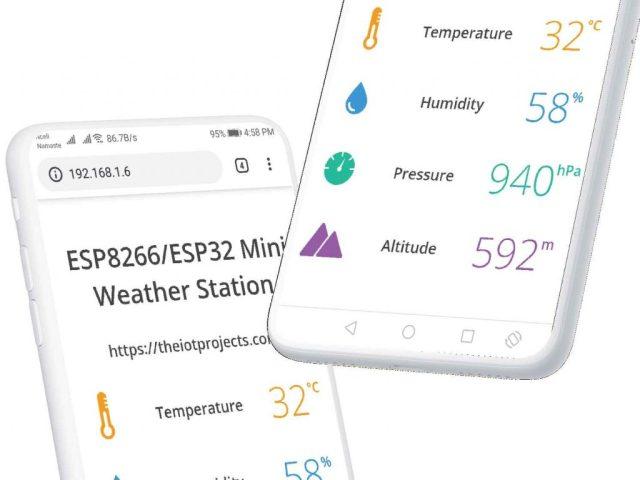 BME280 Based Mini Weather Station using ESP8266/ESP32