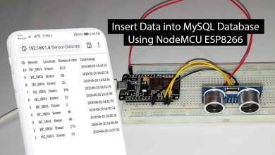 Insert Data into MySQL Database with ESP8266 Development Board