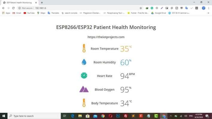 IoT Based Patient Health Monitoring using ESP8266-ESP32 Web