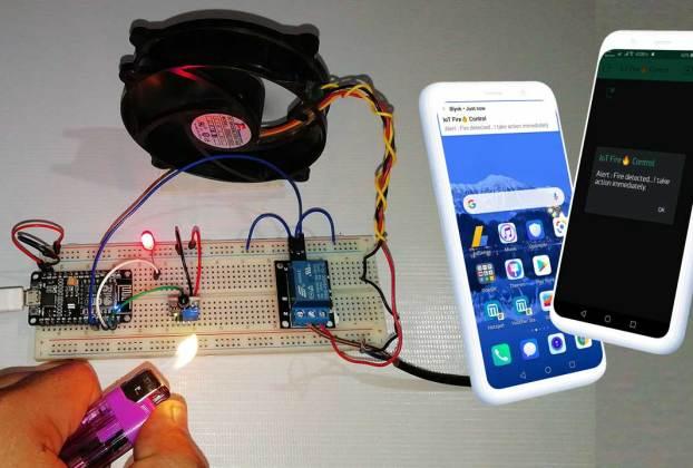 IoT based Fire Detector & Automatic Extinguisher using NodeMCU