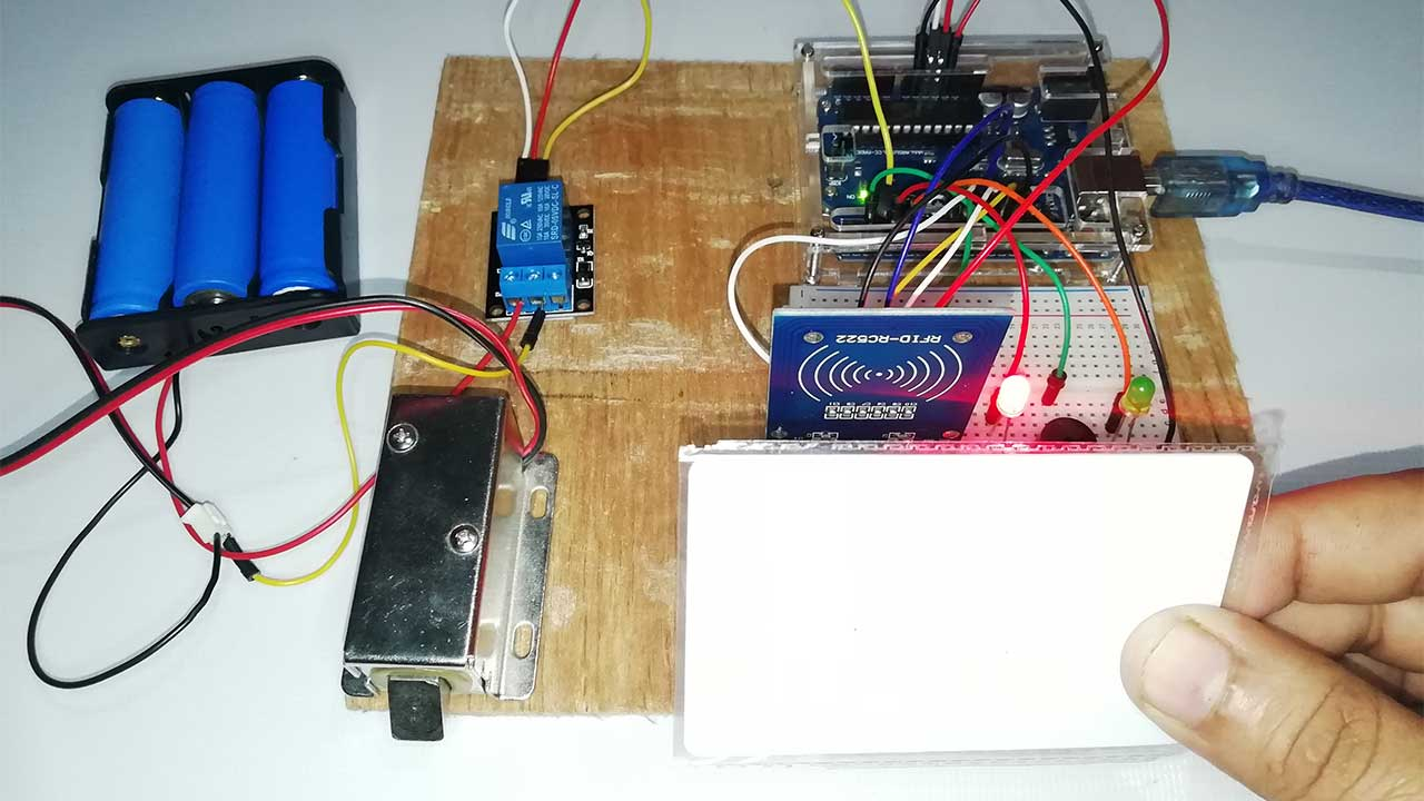 RFID Based Solenoid Door Lock Using Arduino