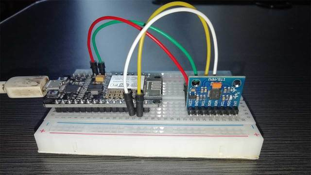 Interfacing NodeMCU and MPU6050 Sensor