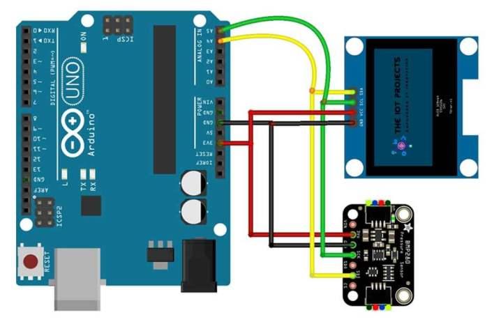 Interfacing BMP280 Sensor and OLED Display with Arduino