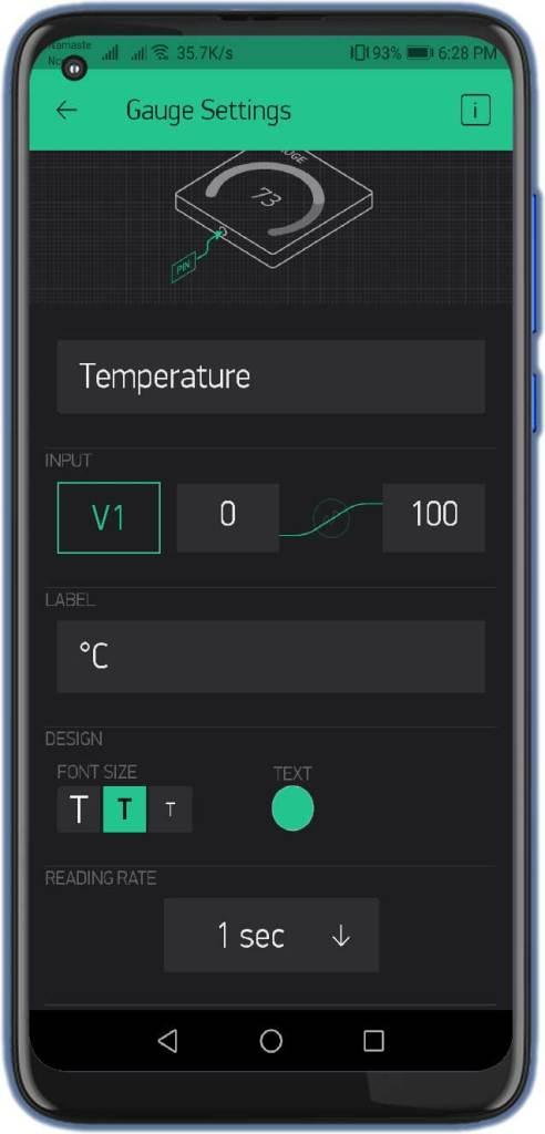 BMP280 Temperature Gauge Setting