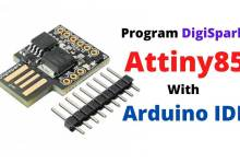Program Digispark Attiny85 with Arduino IDE