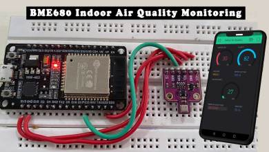 BME680 Indoor Air Quality Monitoring system using ESP32